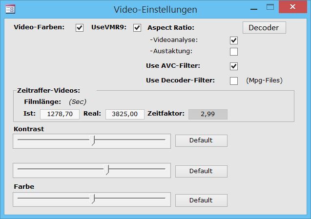 TimeStudy Zeitraffer-Videoeinstellung