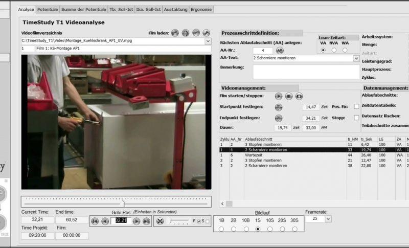 Prozesse ermitteln mit TimeStudy T1-Videoanalyse