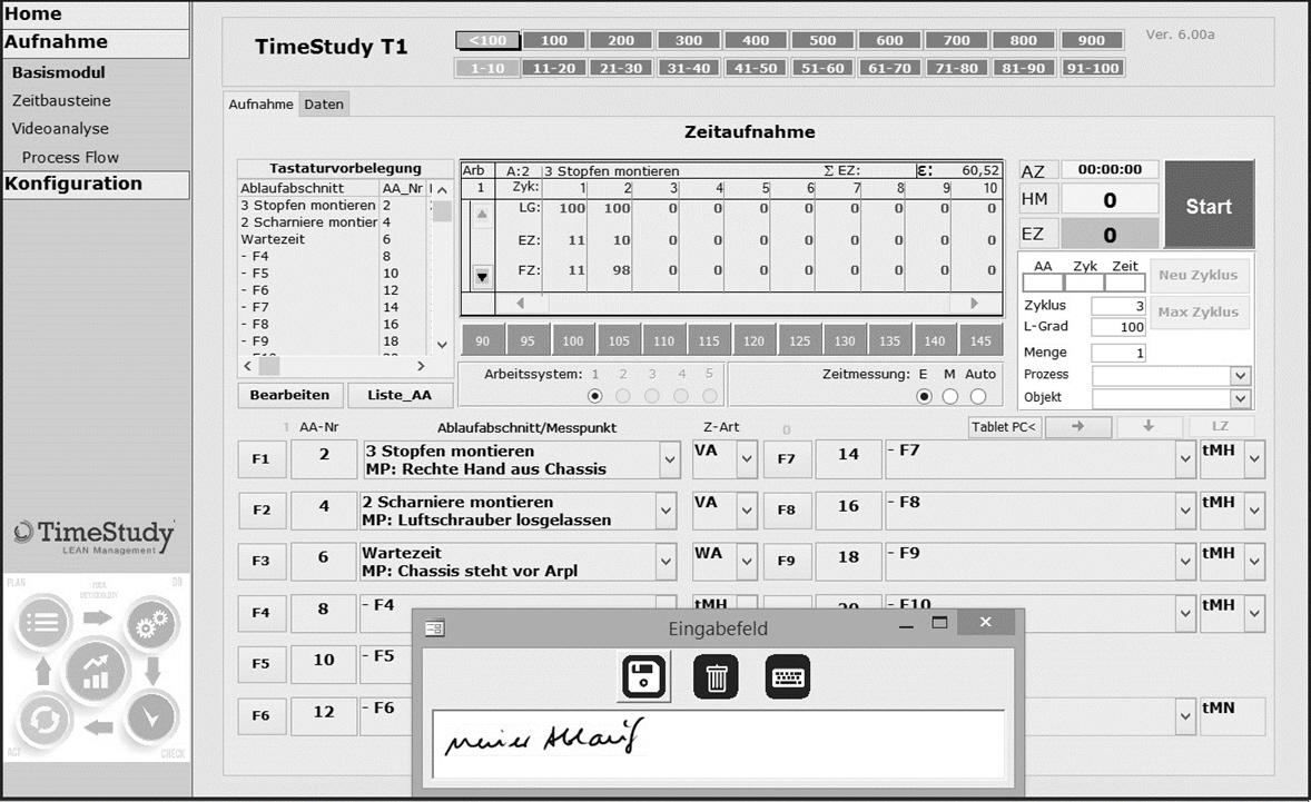 T1 Basismodul mit Schreibfeld